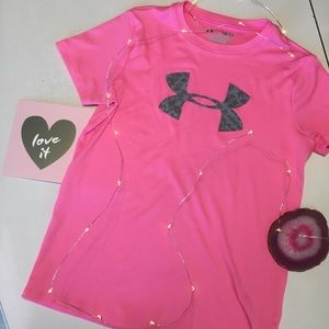 Under Armour - Pink Athletic Tee with logo
